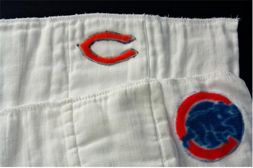 burp cloth chicago sports