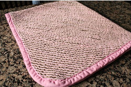 chenille blanket folded