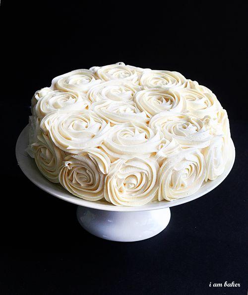 rose cake i am baker