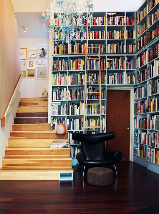 floor to celing bookcases