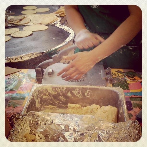 homemade tortiallas