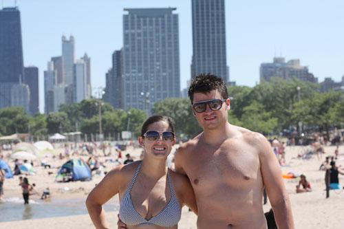 ry & i at beach