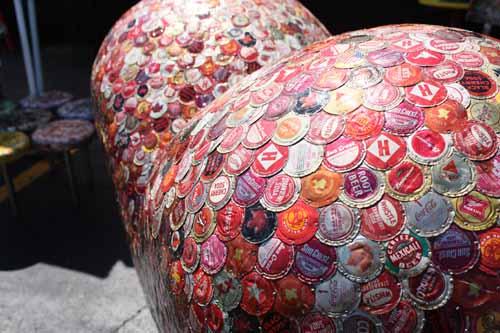 heart of bottlecaps