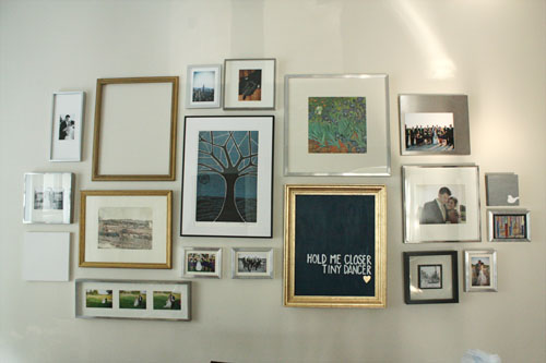 gallery wall - semi complete