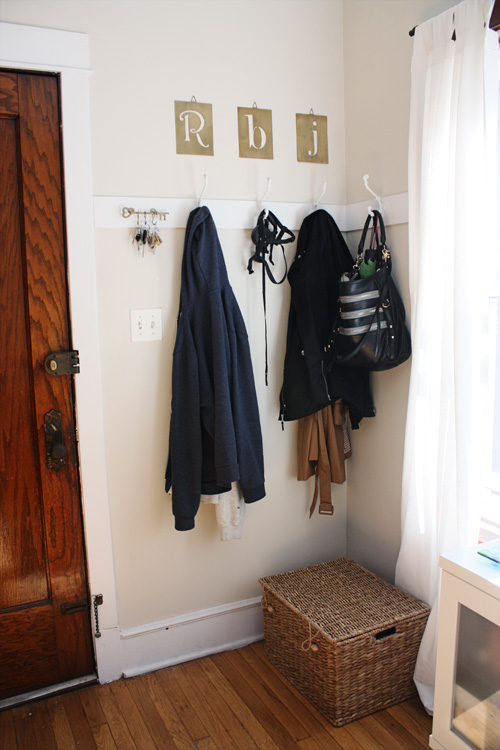 Diy Coat Rack Amp Faux Foyer You Re So Martha