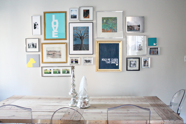 gallery wall view - Farm Table And Chairs