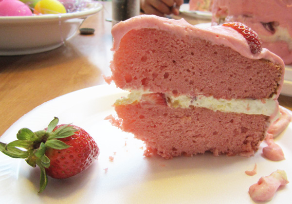 Strawberry Cream Cake With Lemon Curd Whipped Cream Filling You Re