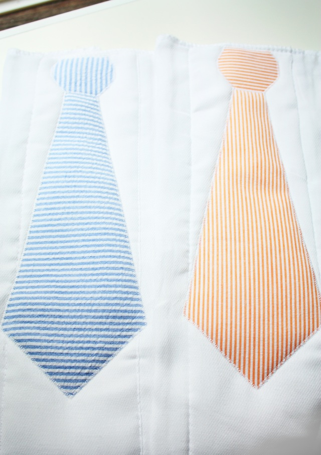 tie burp cloths