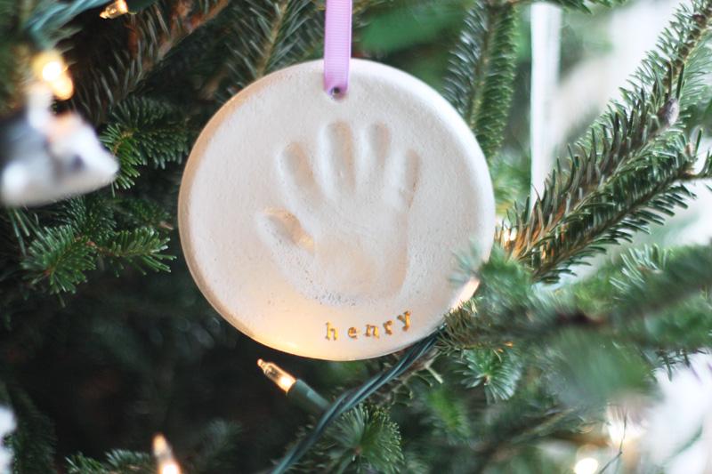 handprint ornament diy  youre so martha