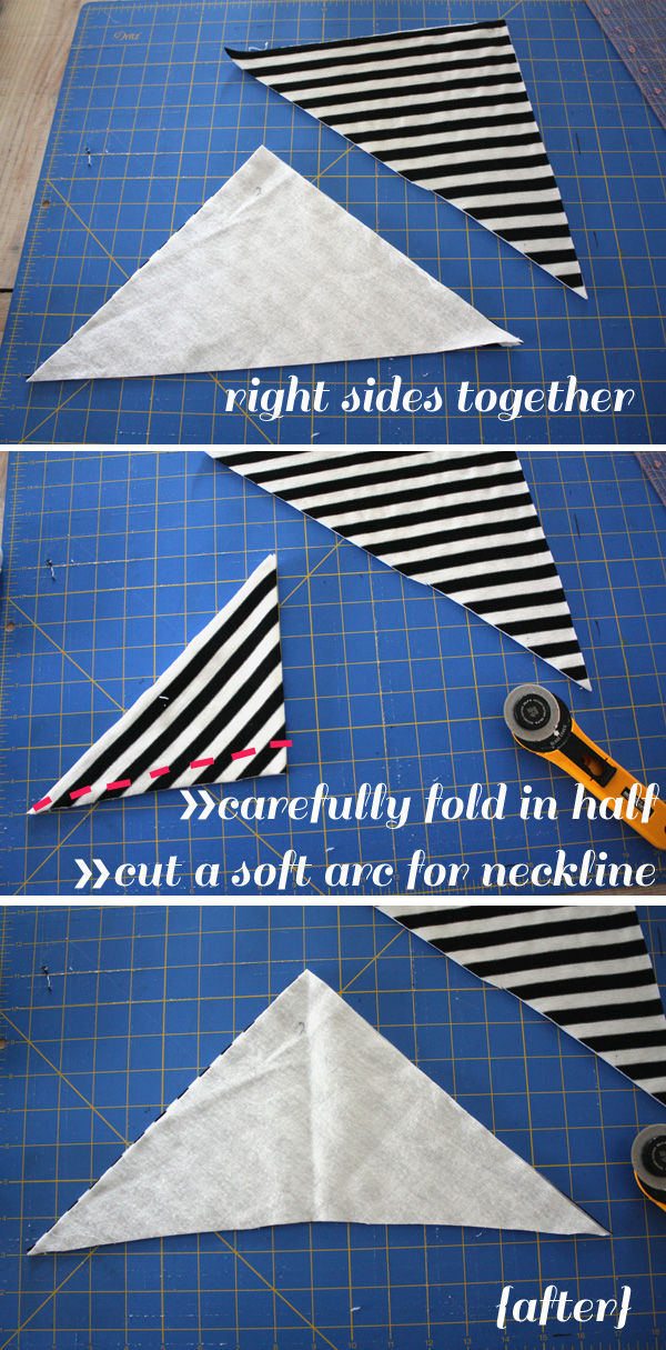 cutting neckline