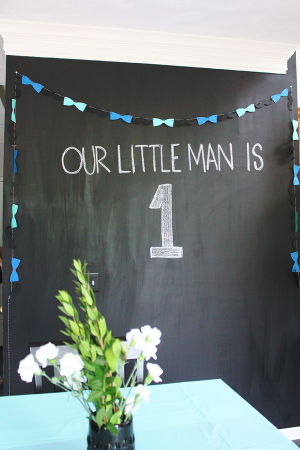 Henry 1st bday party chalkboard