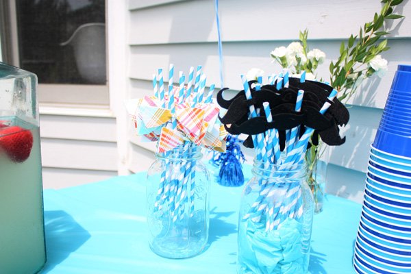 Henry 1st bday party straws