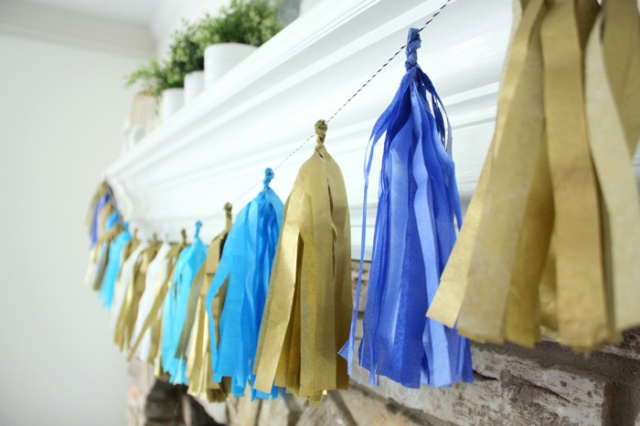 Henry 1st bday party tassels