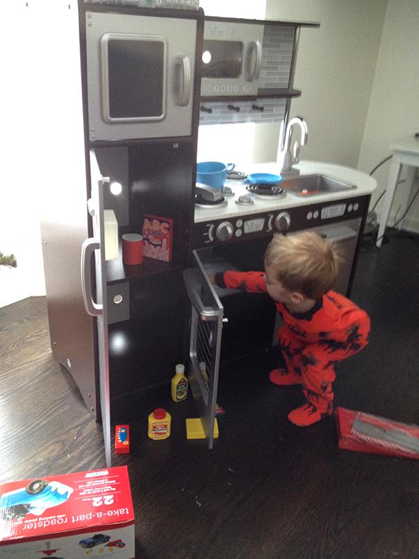 playing kitchen