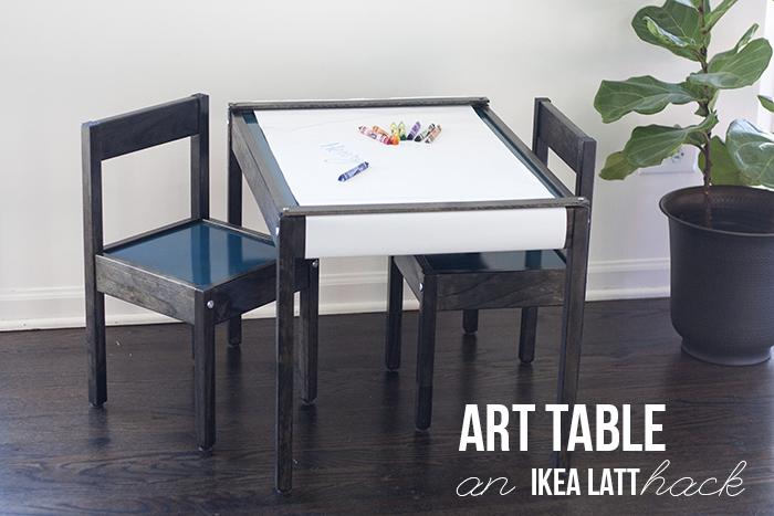 Art Table IKEA LATT Hack | Youresomartha.com