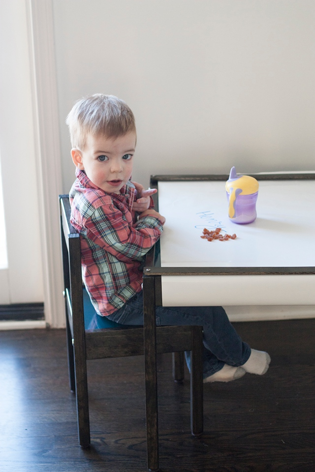 Henry at table