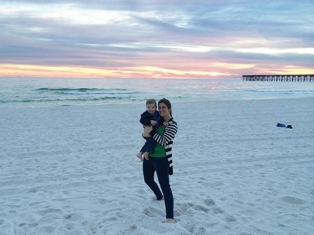 henry mom beach