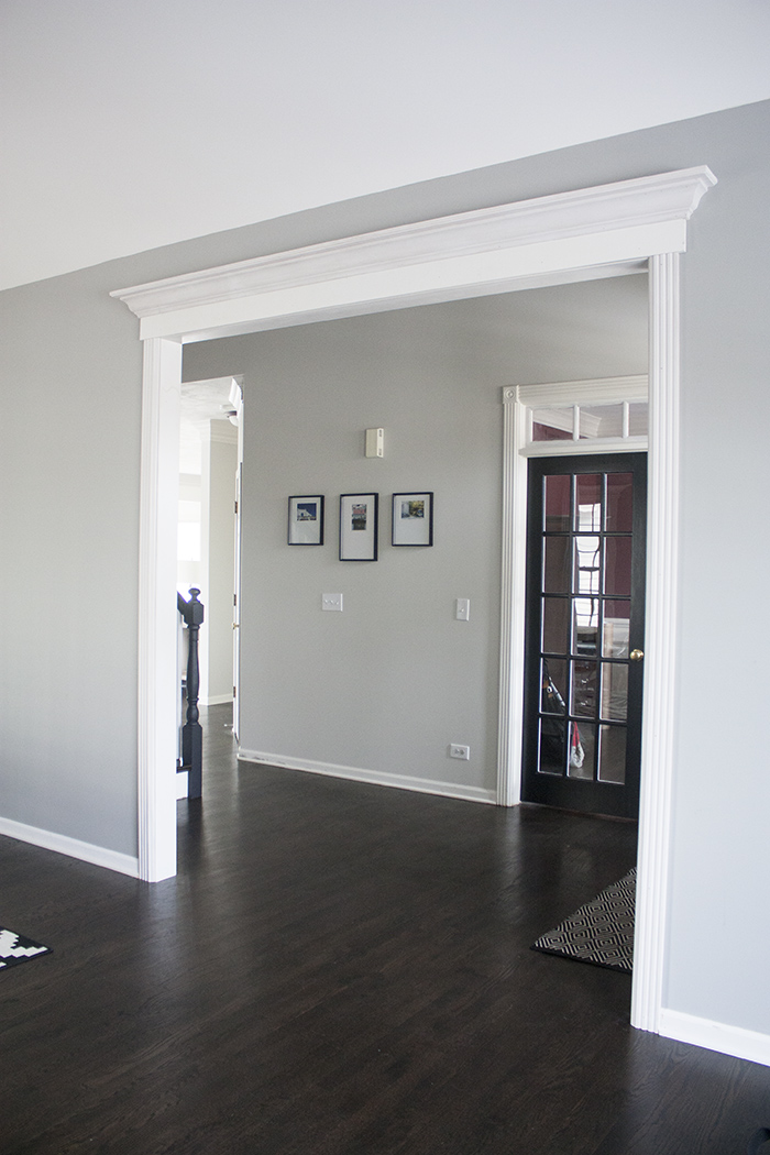 Benjamin Moore Coventry Gray Living Room