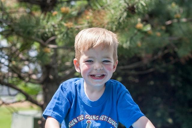 Henry big smile