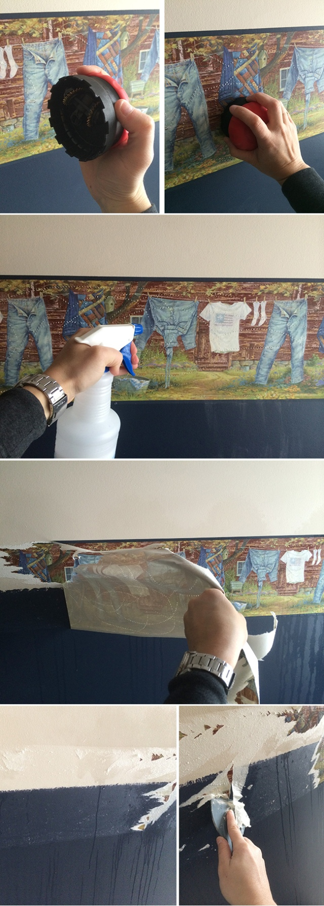 removing wallpaper with fabric softener and vinegar