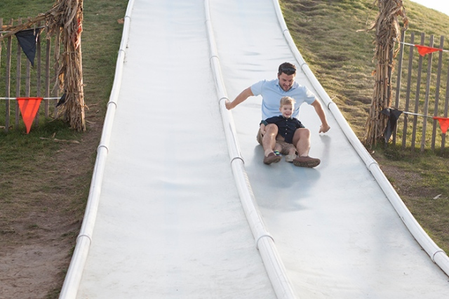 slide with dad