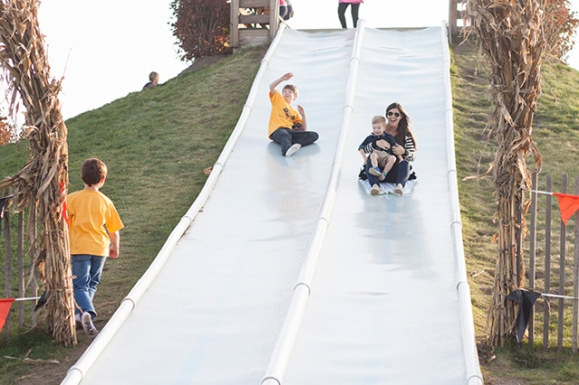 slide with mom